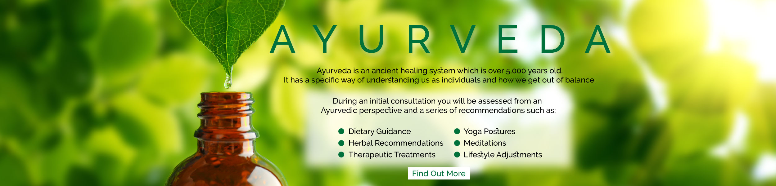 Ayurveda // Home slider // Eat & Breathe // Ayurveda is an ancient healing system which is over 5,000 years old.