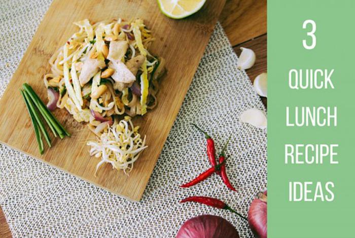 3 Quick Lunch Recipe Ideas // Eat & Breathe // Recipe Blog