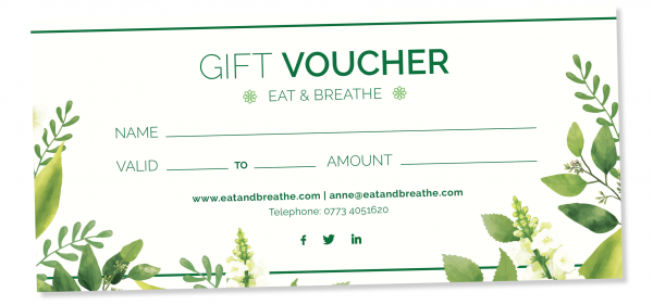 Gift Voucher | Eat & Breathe